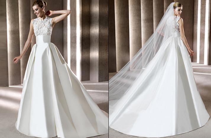 High neck embellished wedding dress 2012 elie saab for Elie saab 2012 wedding dresses