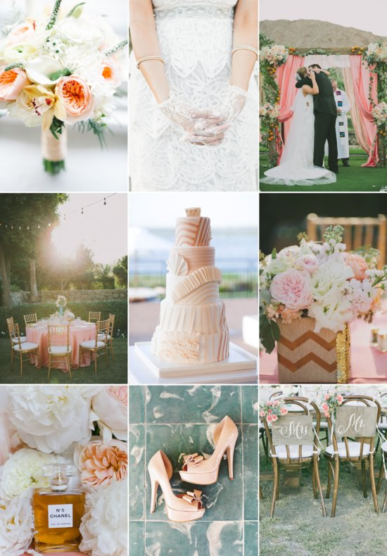 Summer wedding color inspiration peachy dreams