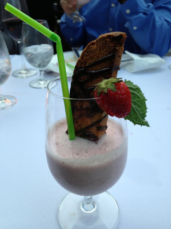 Farm Dinner Strawberry Milkshake