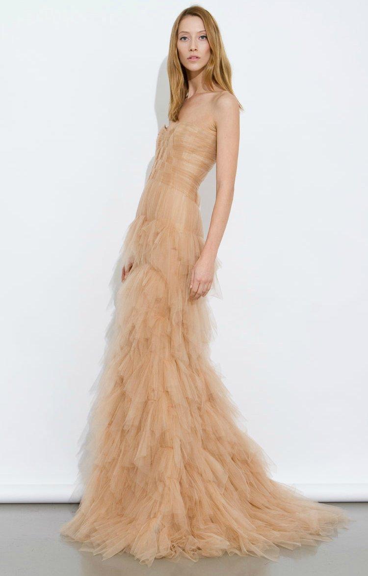 nude wedding dress a line bridal gowns j mendel nude wedding dress nude wedding dress a line bridal gowns j mendel