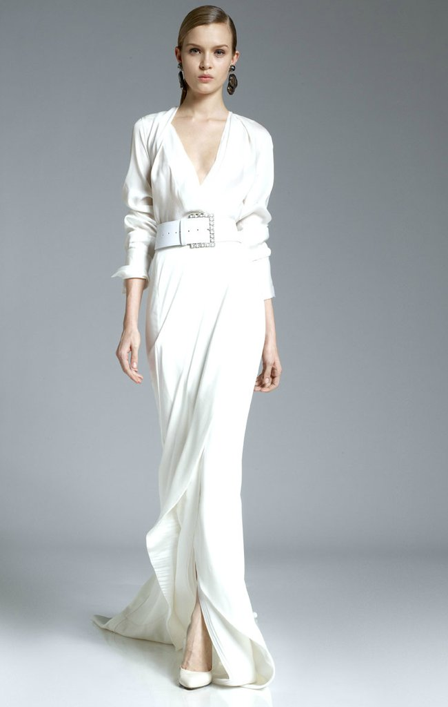 photo of White Aisle Wedding Inspiration from Pre-Fall 2012 Catwalks