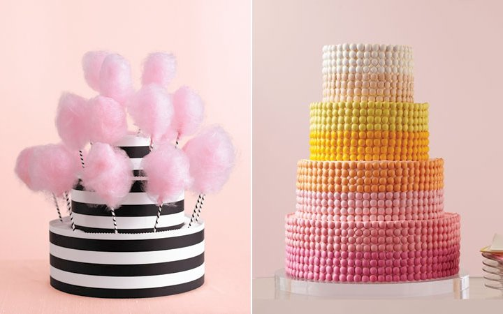 Candy-caoted-wedding-cakes-pink-black-wedding-color-palette.full