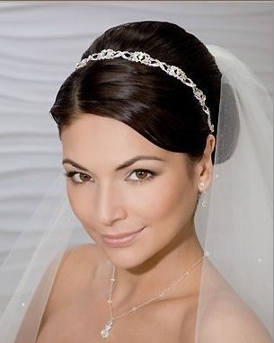 photo of Bel Aire Flexible Rhinestone wedding Headband