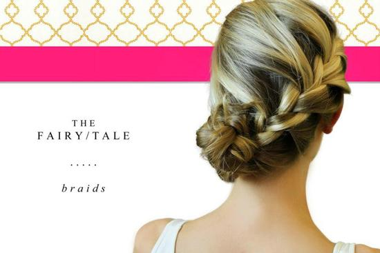 side braided wedding or bridesmaid updo