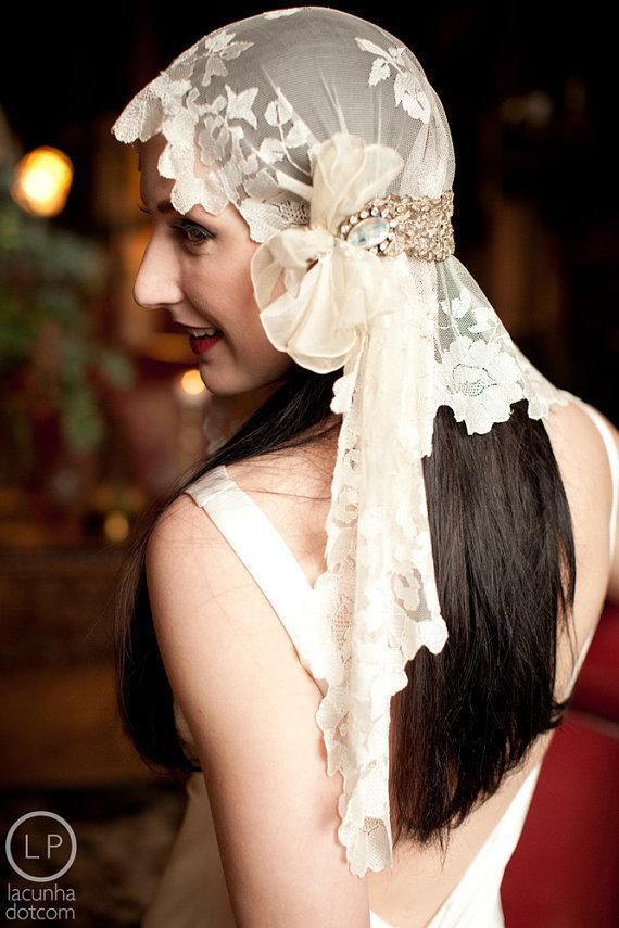 bohemian bridal headpiece veil etsy