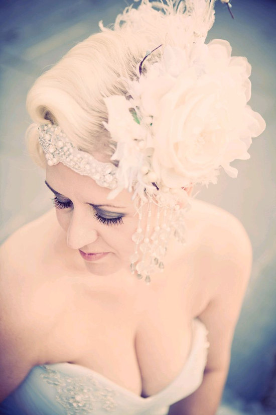 photo of Alana bridal headpiece by Kat Swank