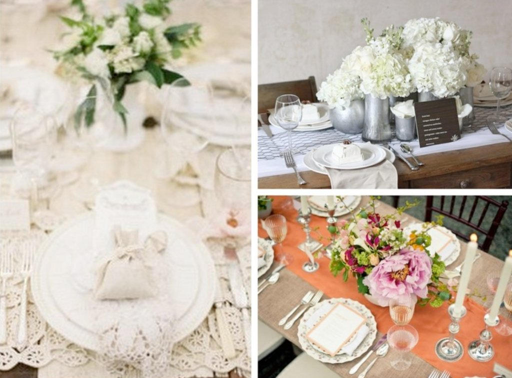Romantic wedding reception decor centerpieces vintage