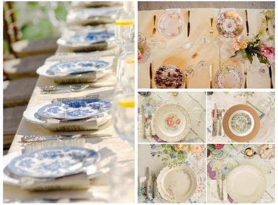 elegant vintage wedding reception tabletops