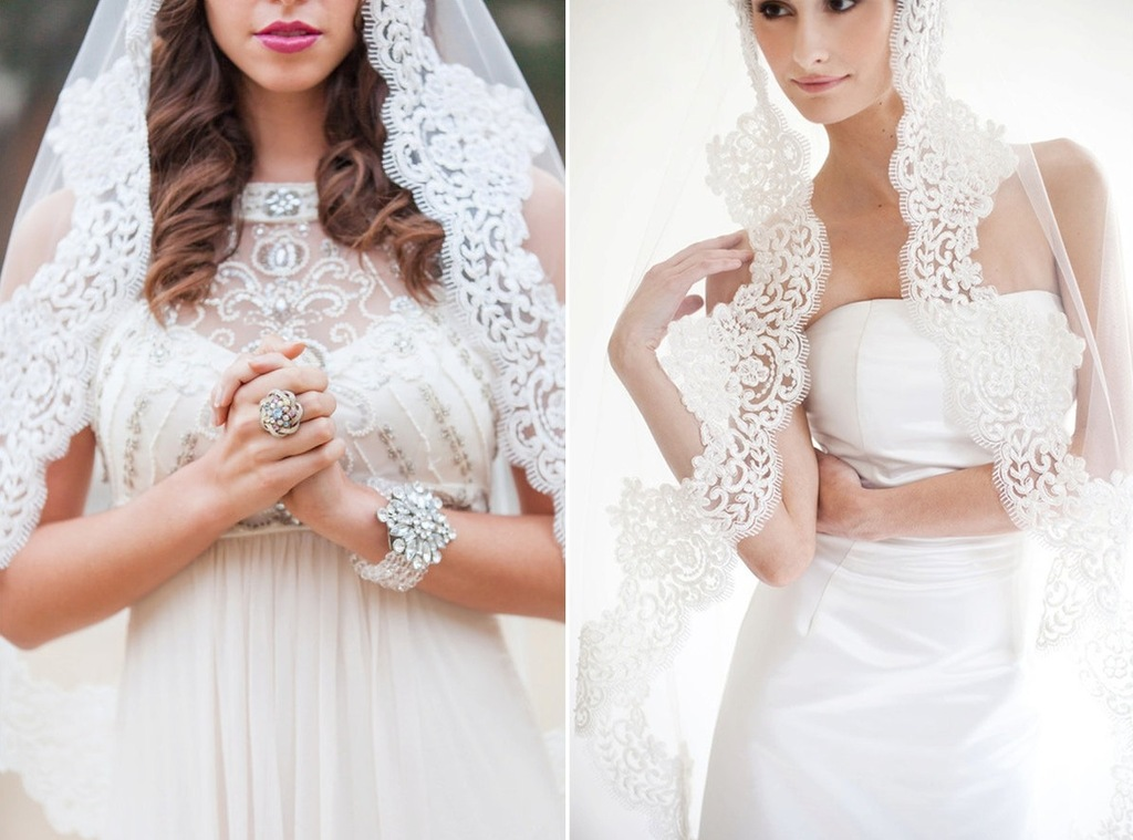 Romantic-lace-trimmed-bridal-veil-mantilla-style.full
