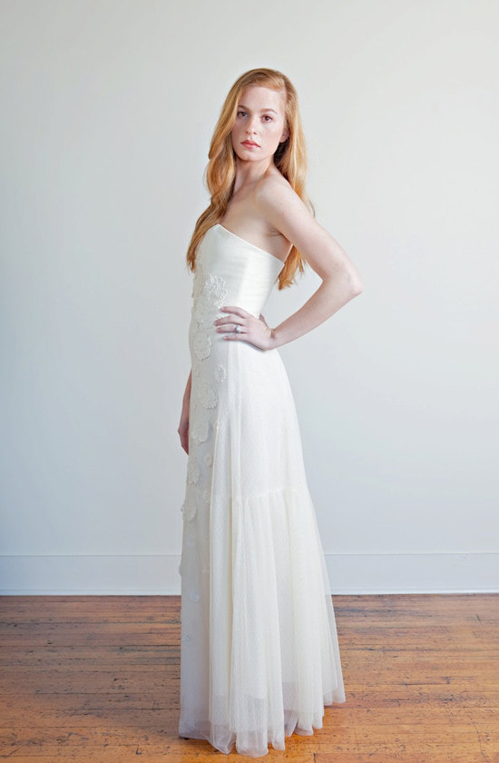 photo of Roses and Lace wedding dress by Andie McGuire