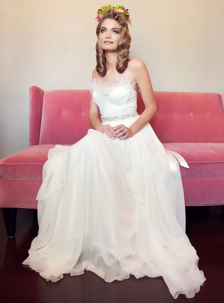 photo of Princess Bride wedding dress, photo by Diana Sell