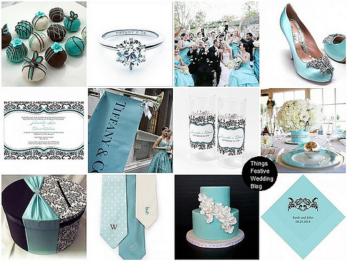 tiffany blue damask wedding