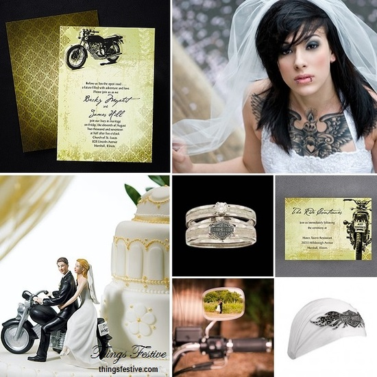 motorcycle wedding theme