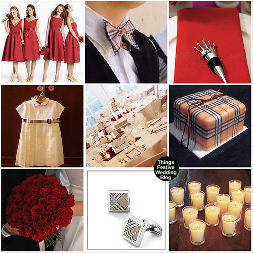 burberry wedding theme