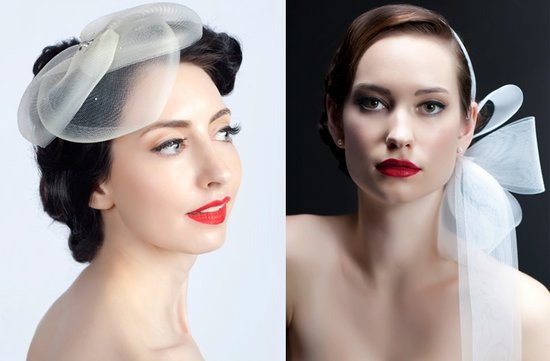 sara gabriel vintage inspired wedding hats hair pieces