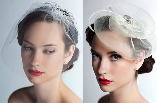 chic wedding hat vintage inspired bridal veil