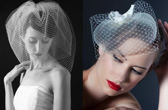 vintage inspired bridal veils wedding hair accessories