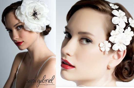vintage inspired wedding hair flowers bridal accessories 1