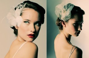 photo of Knockout Wedding Hair Accessories + Bridal Veils by Sara Gabriel