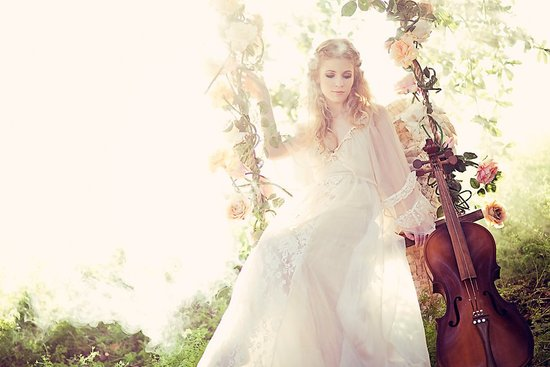 ethereal summer wedding ideas floral swing
