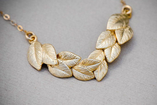 gold grecian chunky bridal necklace