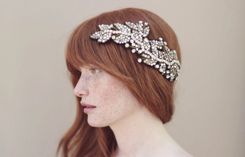 Grecian bridal headpiece by Twigs and Honey