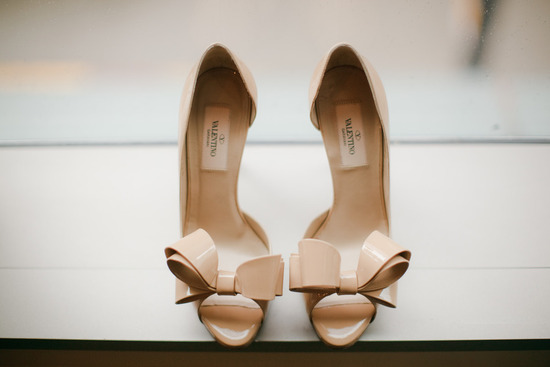 Nude valentino wedding shoes artistic photography