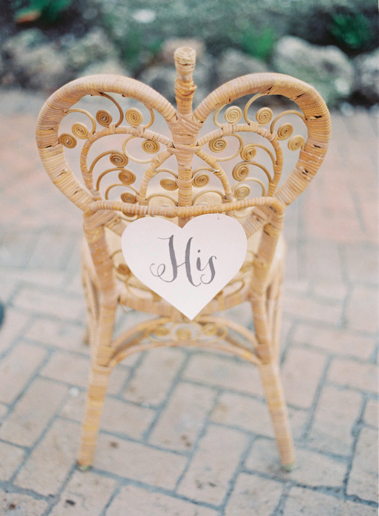 Unique wedding signs chair decor His and Hers
