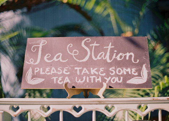 Wedding food trends 2013 tea station
