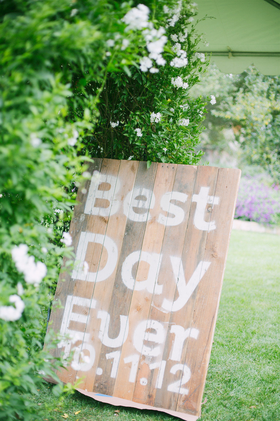 Best day ever rustic wedding sign for Best day for a wedding