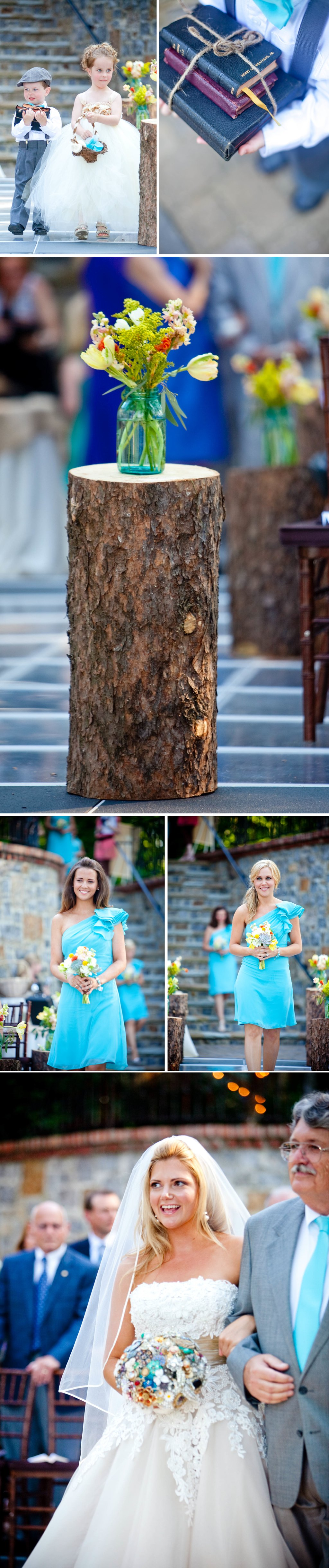 Turquoise-outdoor-wedding-vintage-inspired-bride-ceremony.full