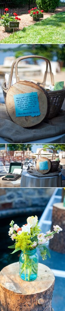 photo of Outdoor Southern Wedding with a Bright Color Palette