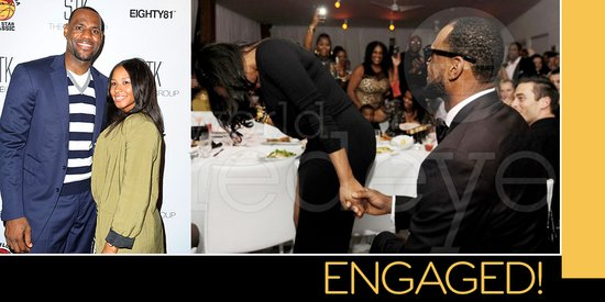 photo of LeBron James' very public NYE proposal!