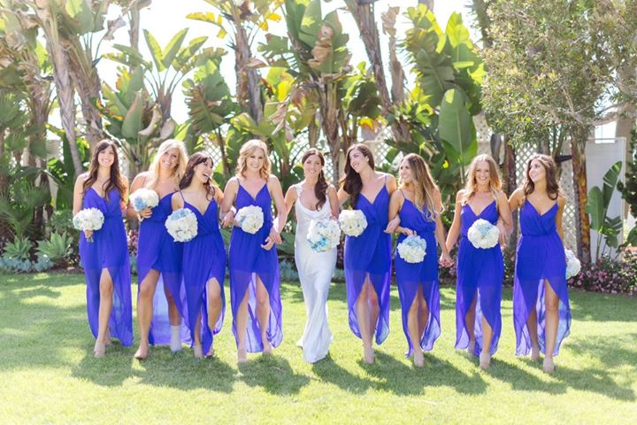 Wedding Pictures With Blue Bridesmaid Dresses : Wedding inspiration bouquet blue ombre dessert table dress