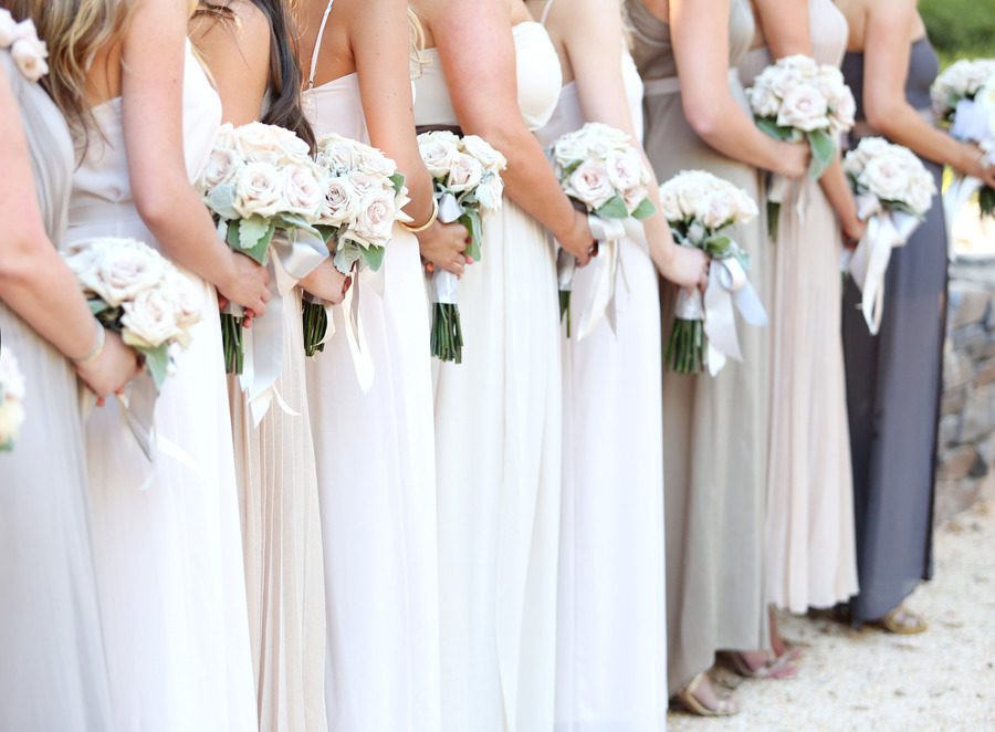 Elegant-long-bridesmaid-dresses-in-white-taupe-and-gray.full