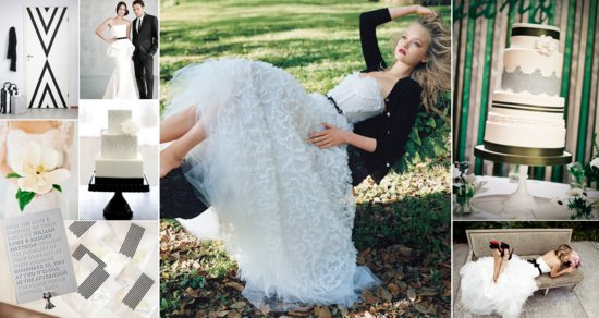 Black and white wedding color inspiration