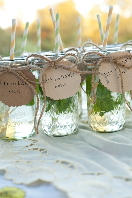 Mason Jar wedding favors
