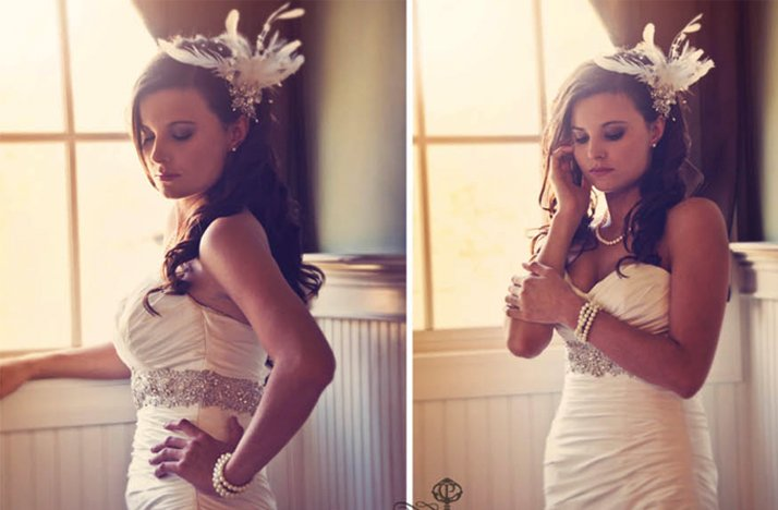 Vintage-inspired-all-down-wedding-hair-feather-fascinator.full