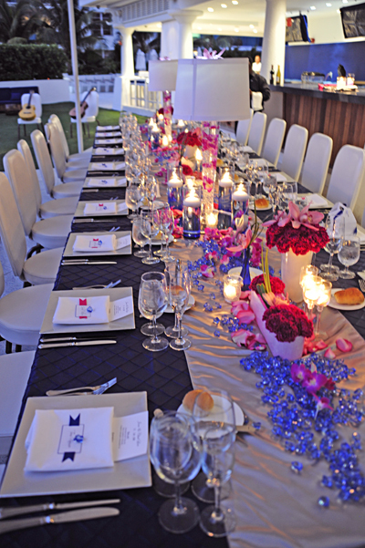 photo of Miami_Beach_Reception_Blue_Pink