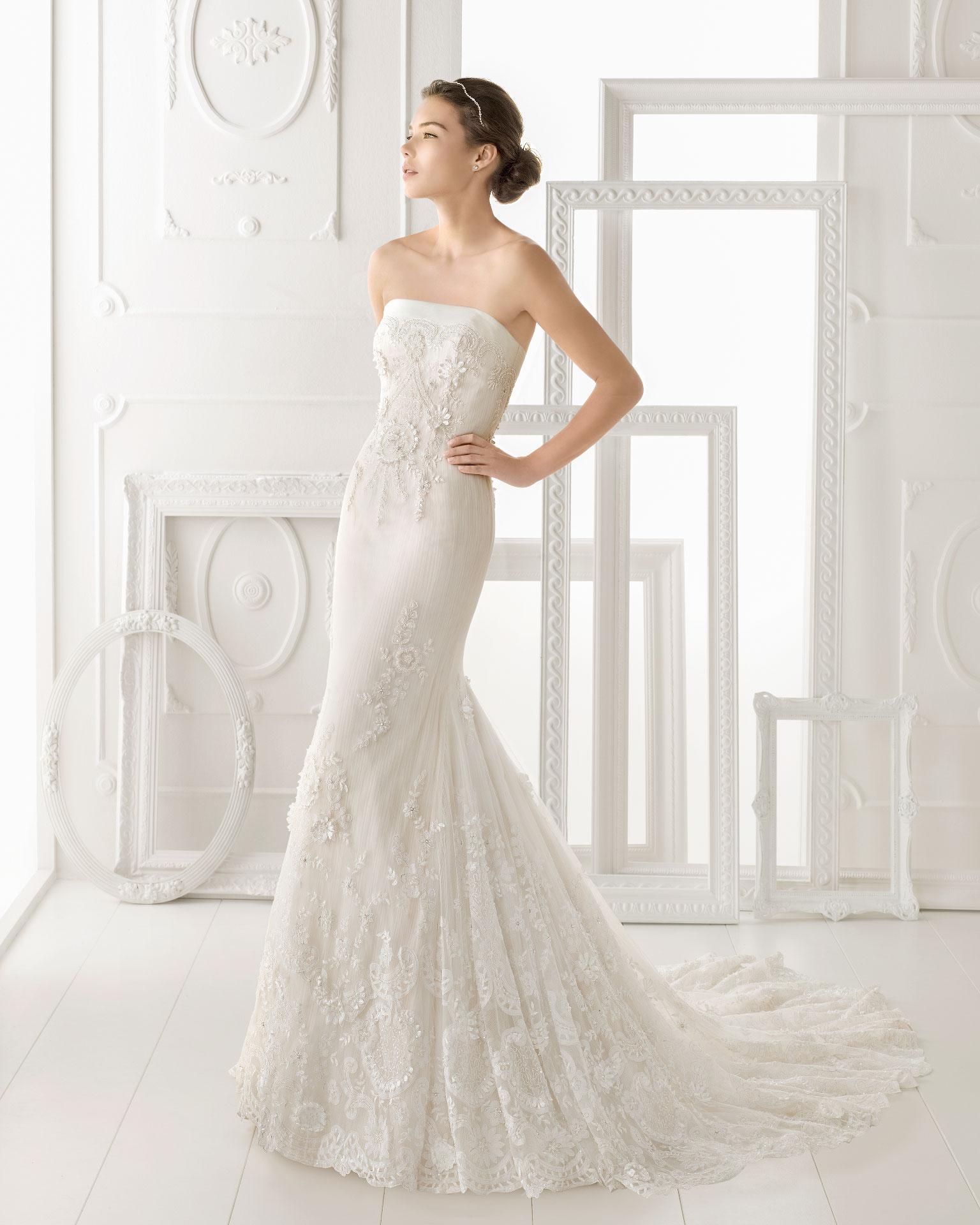 Simple Wedding Dress Hong Kong: Aire Barcelona Wedding Dress 2014 Bridal Osnel