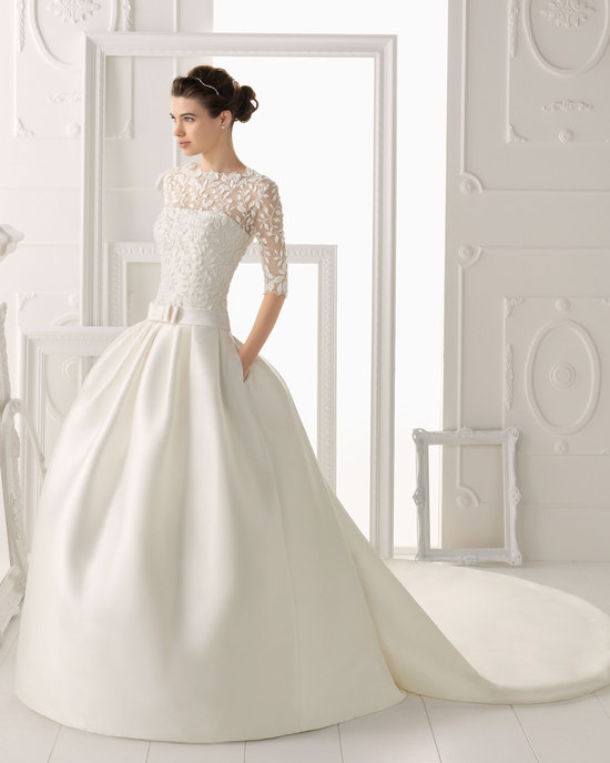 Aire Barcelona wedding dress 2014 Bridal Orozco