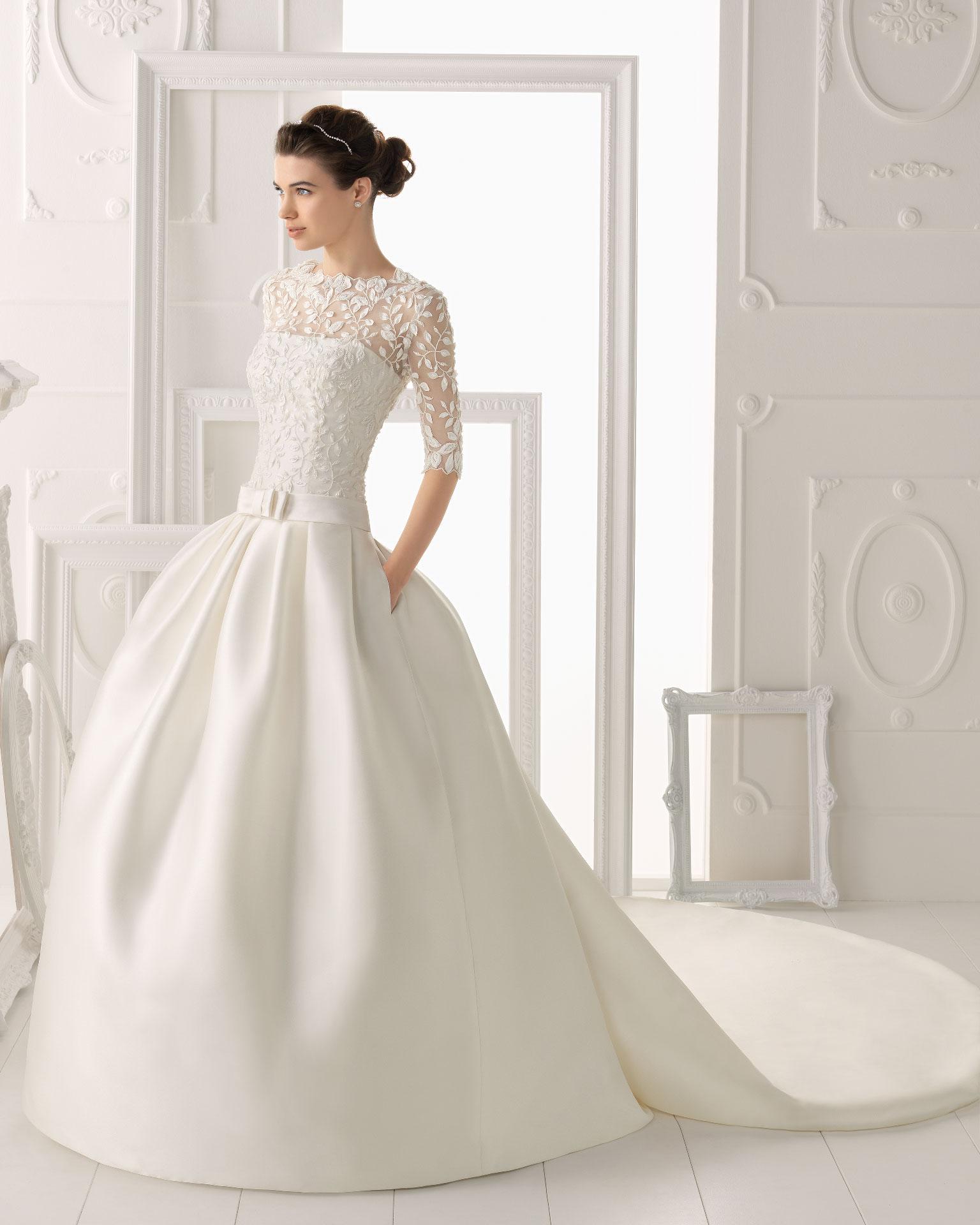 Aire barcelona wedding dress 2014 bridal orozco for Wedding dresses in barcelona spain