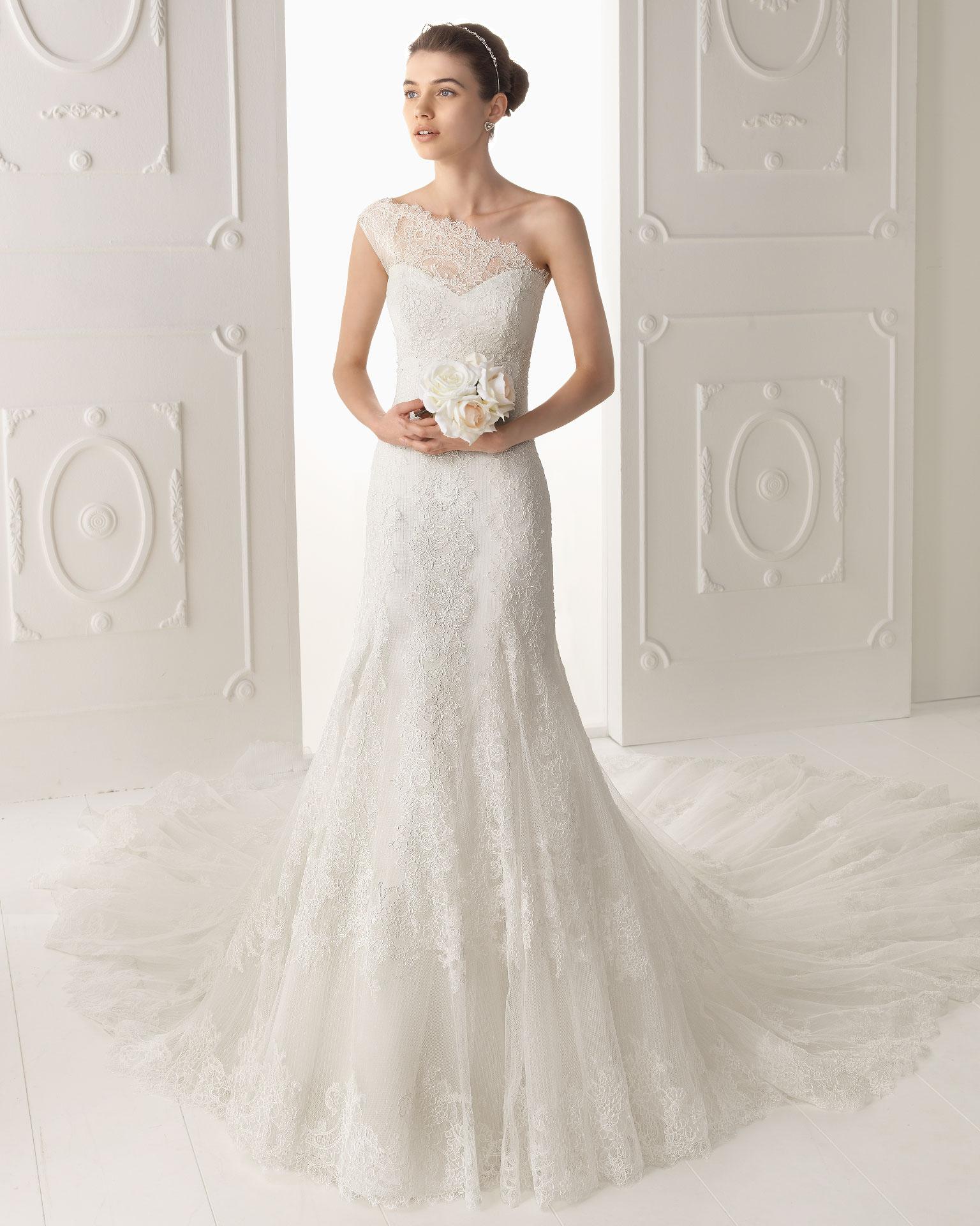 Aire Barcelona Wedding Dress 2014 Bridal Oyambre