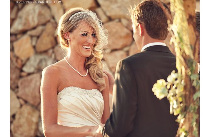 Wedding Hairstyles All Down Birdcage Veil