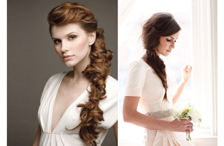 romantic wedding hairstyle braided
