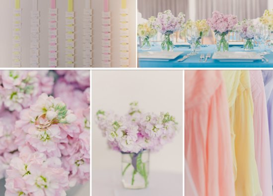 winter wedding ideas pretty pastels colorful weddings2 original