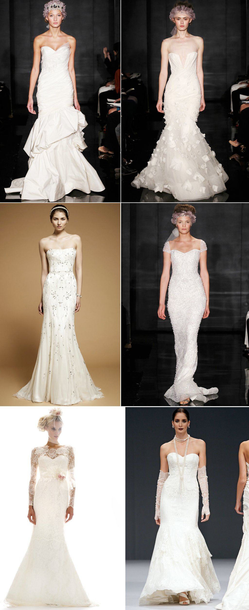 2012 wedding dresses mermaid style lace reem acra anne barge