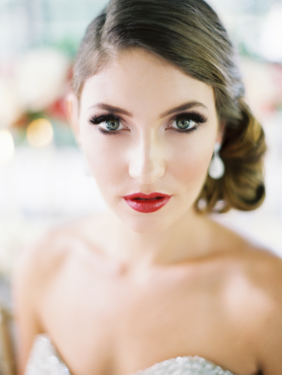 photo of Bridal beauty inspiration makeup perfect for vintage brides