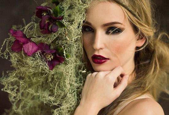 photo of Dramatic wedding makeup look Spring Bohemian