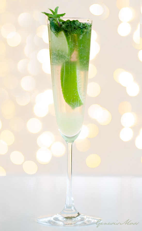 wedding signature drinks champagne mojito